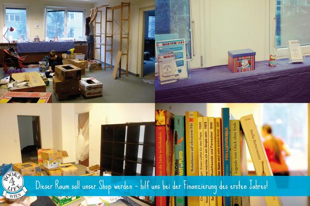 Ein Raum für Books4Life Wien