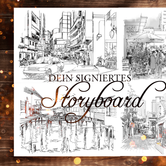 Signiertes Storyboard