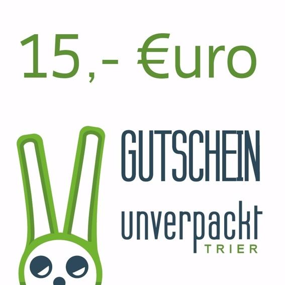 Einkaufsgutschein über 15,- €
