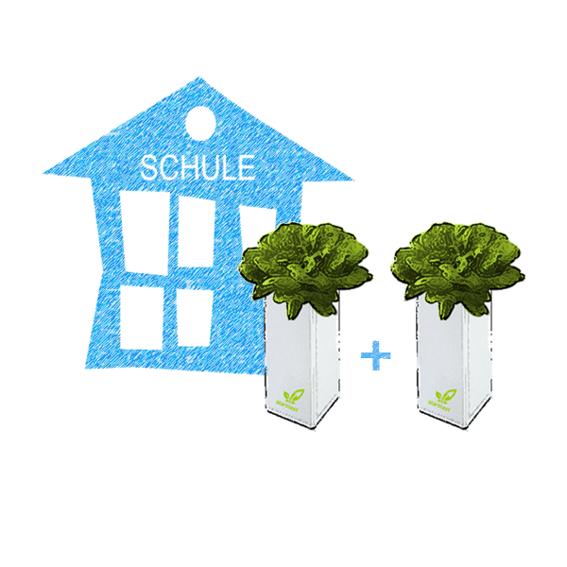 1 x BottleCrop an Schule VERSCHENKEN(!) und 1 x BottleCrop für Dich