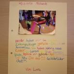 Ein Seite aus unserem Leseclubtagebuch mit Foto