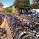 Goldene FahrradGarderoben-Marke auf Lebenszeit