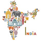Postkarte aus Indien