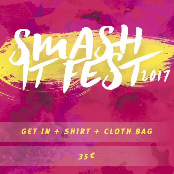 Dein Ticket + Smash It T-Shirt und Stoffbeutel