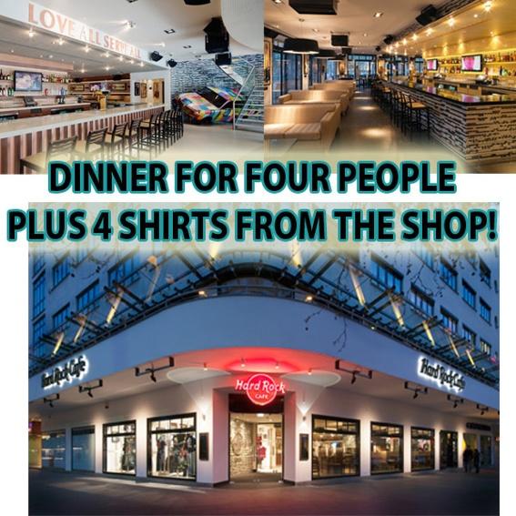 Dinner 4 four People @ HARD ROCK CAFE BERLIN