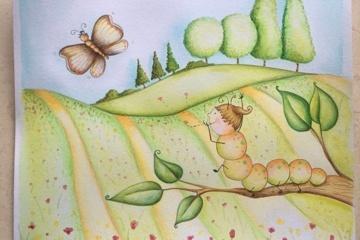 Kinderbuch: Eine kleine Raupe entdeckt die Welt