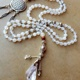 Handknotted Japa Mala with Clear Quartz