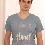 passion for planet no1 – men shirt taubenblau