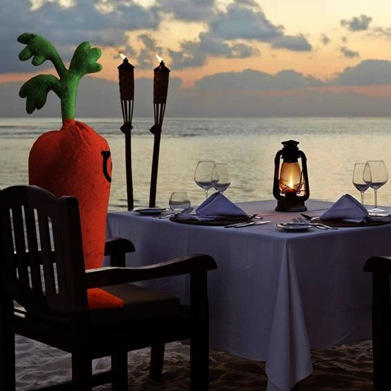 Candlelight-Dinner mit Orangela Mörkel