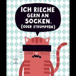 """POLLE #1 + Poster """"An Socken riechen"""" (von Zubinski)"""