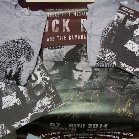 Chuck Ragan Fanpaket: LP, T-shirt, Poster alles signiert
