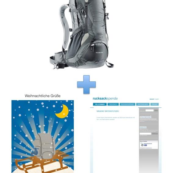 Deuter Rucksack Futura 32 (für Männer) + Weihnachtskarte + Namensnennung