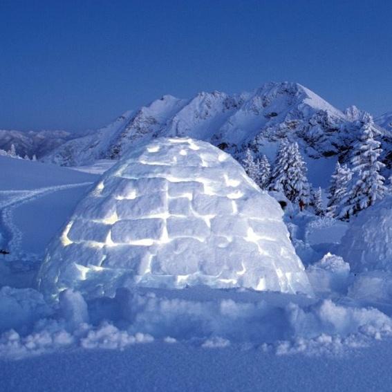 Übernachtung im selbstgebauten Iglu in den Alpen