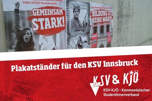 Plakatständer für den KSV Innsbruck