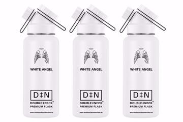 "Double Neck Premium Flask 32 OZ - ""White Angel"""