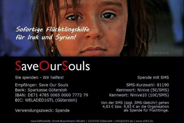 CHARITY CD – Merry Christmas for Syria & Iraq by SaveOurSouls e.V.