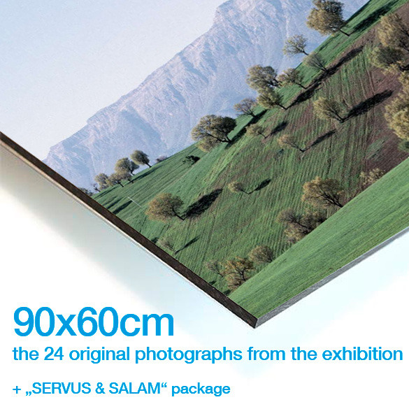 "THE 24 ORIGINAL PHOTOGRAPHS SHOWN AT THE EXHIBITION (90 x 60) + THE ""SERVUS & SALAM"" PACKAGE"