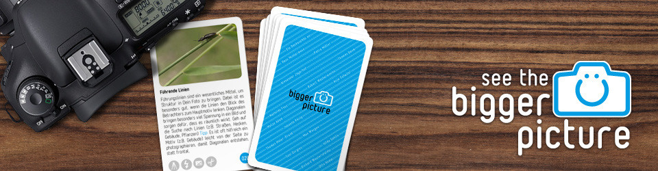"""Inspirations- und Aufgabenkarten """"bigger picture"""" für Fotografen"""