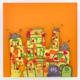 "3D-Wandbild Unikat ""Monster-Villa"" 52 cm x 52 cm"