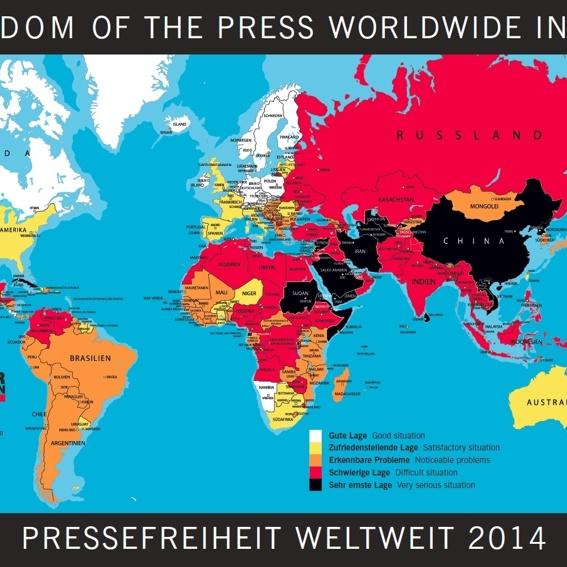Weltkarte der Pressefreiheit