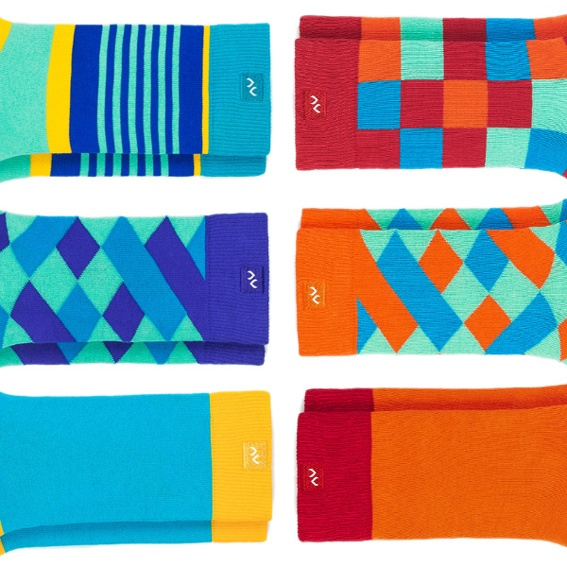 Ein Paar wunderschöne Socken (unisex)