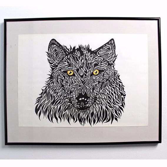 Lone Wolf Photo-Print Handsigniert