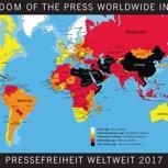 Weltkarte zur Pressefreiheit 2018