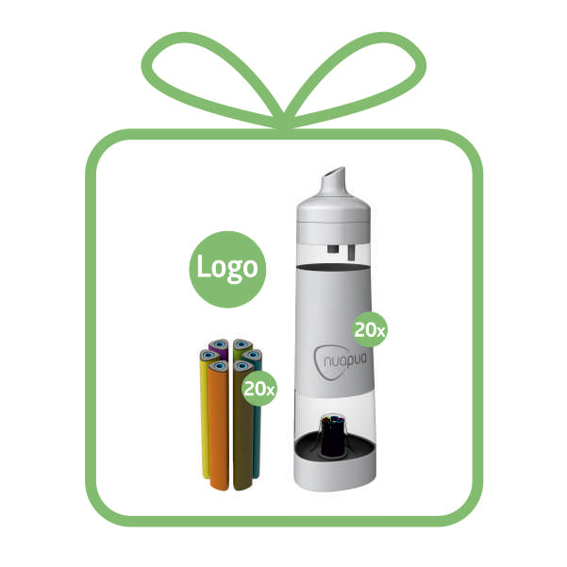 """Team Package + LOGO"" 20 x TRITAN BOTTLES with individual logo"