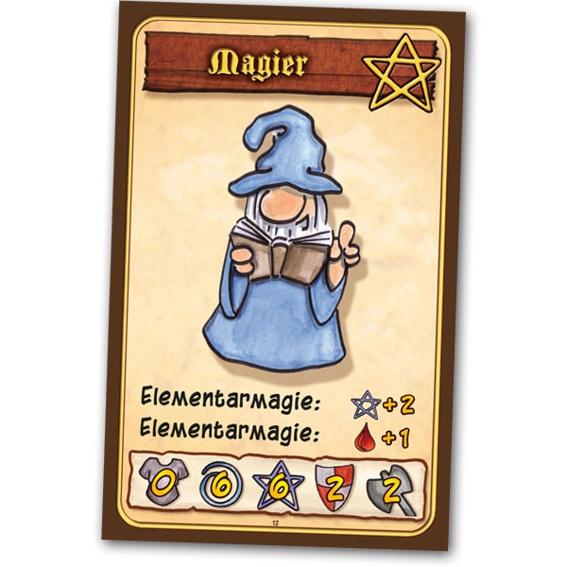 """""""Der Magier"""" : Spiel + Kleine Helden 2 + Kleine Helden S&H (alle mit Signatur und Skizze in der Packung) + 4 Promokarten + T-shirt + 5 Lebenspunktekarten + Button + Danke auf der Homepage"""