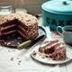 Kaffee und ein hausgemachtes Stück Kuchen