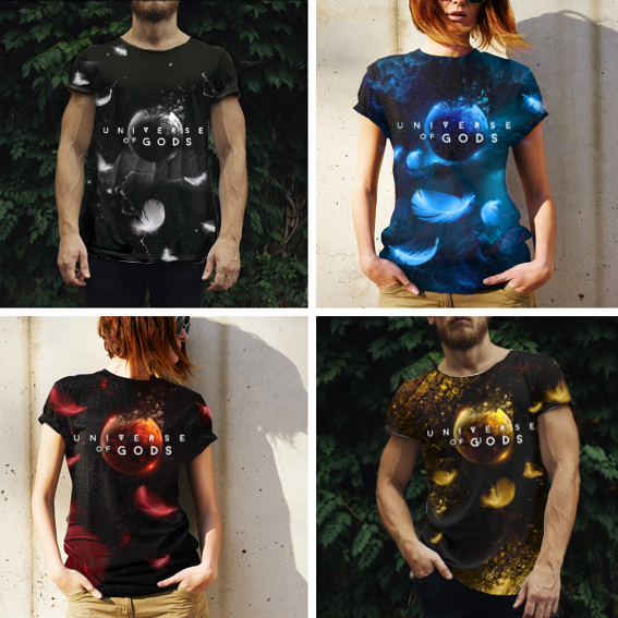 Exclusive 'Universe of Gods' T-Shirt