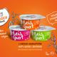 Reisgurt 12er (Becher) Vegan-Family-Pack