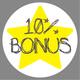 10% Bonus - Voucher