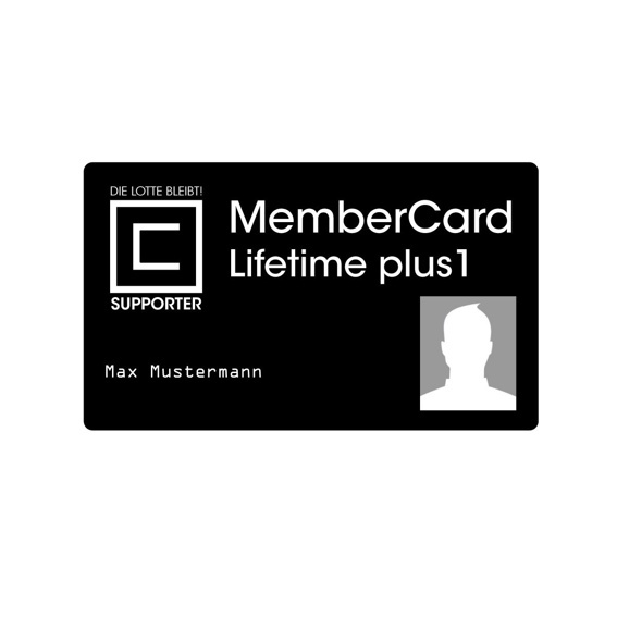 Membercard - Lifetime Plus 1