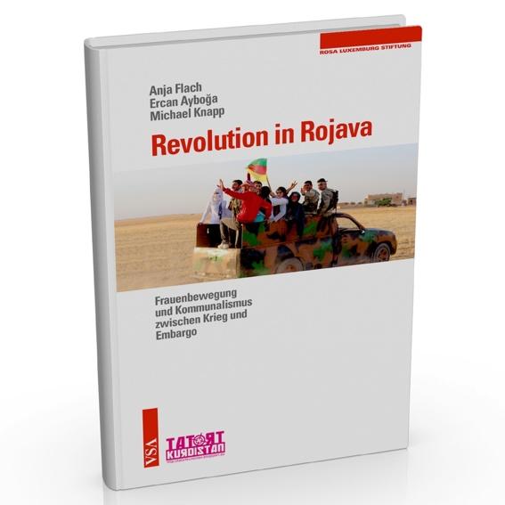 """Buch """"Revolution in Rojava"""" und Beutel"""