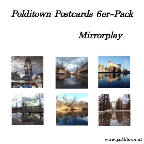 "Polditown-Postkartenset ""Mirrorplay"""