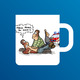 Rippenspreizer Cartoon Tasse