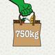 750 kg Lebensmittel retten