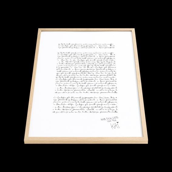 handgeschriebener Songtext - gerahmt