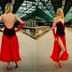 """FTA: handgefertigtes Tanzkostüm """"Lady in Red"""""""