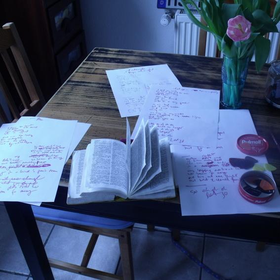 songbook, gedruckt und signiert