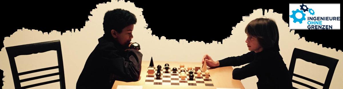 Schachbretter für Flüchtlinge