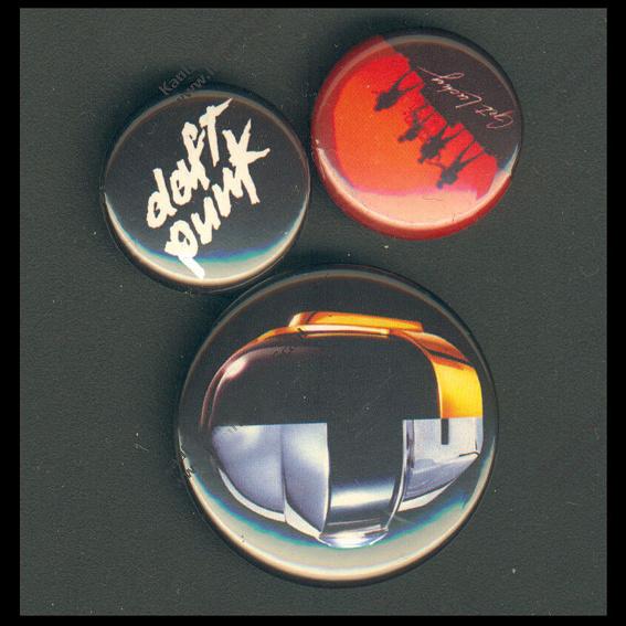 3 Daft Punk Buttons
