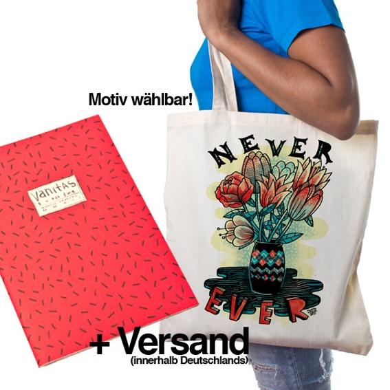 1 Ausgabe »Superzine Vanitas« (Pre-Order) + 1 Leinenbeutel mit Wunschmotiv