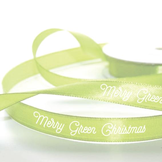 """Geschenkband """"MERRY GREEN CHRISTMAS"""""""