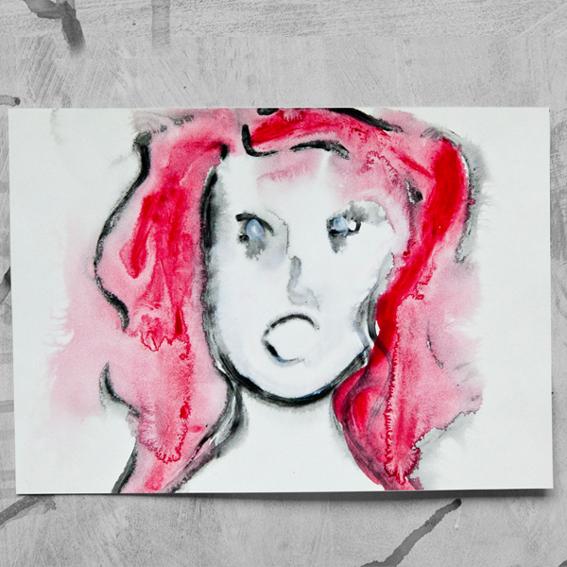 """DIN-A-4 ArtPrint """"My Rage"""" - Angela Becken"""
