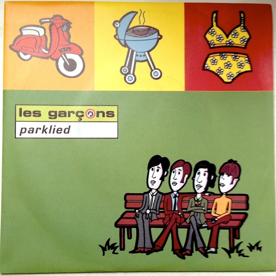"les garcons ""Parklied"" rare 4-Track Single (Auf Wunsch signiert!)"