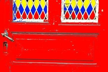 Kunstflat Red Door