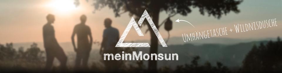 meinMonsun - Umhängetasche + Wildnisdusche