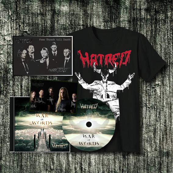 Dein limitiertes HATRED MASTER TICKET + Album + T-shirt + Autogrammkarte